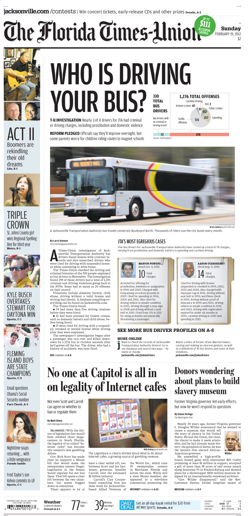 Larry Hannan and Florida Times-Union investigation of Jacksonville Transportation Authority bus drivers