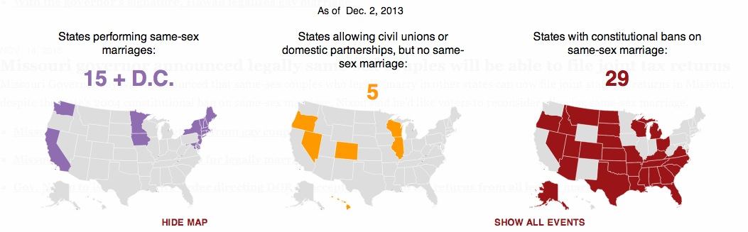What state allow same sex marriage does
